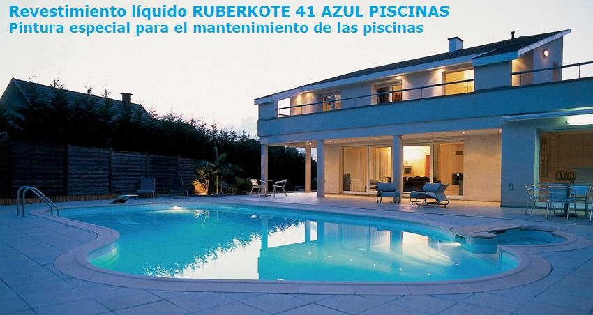Ruberkote 41 azul piscinas pinturas revestimientos for Revestimientos de piscinas
