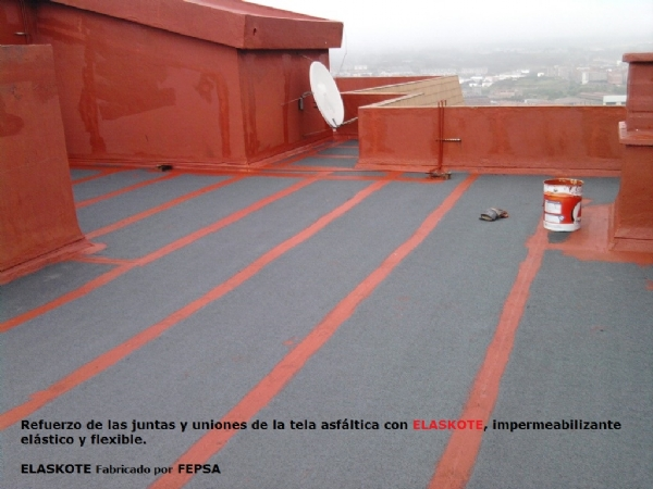Tela asfaltica con aluminio trendy tela asfaltica sin - Como poner fibra de vidrio ...